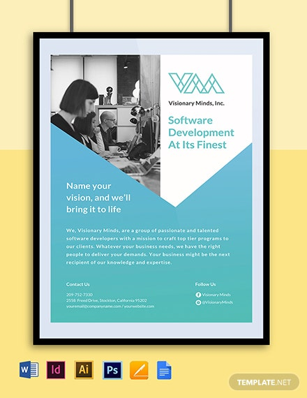 Software Developer Poster Template Word Psd Indesign Apple Mac Pages Google Docs Illustrator Template Net