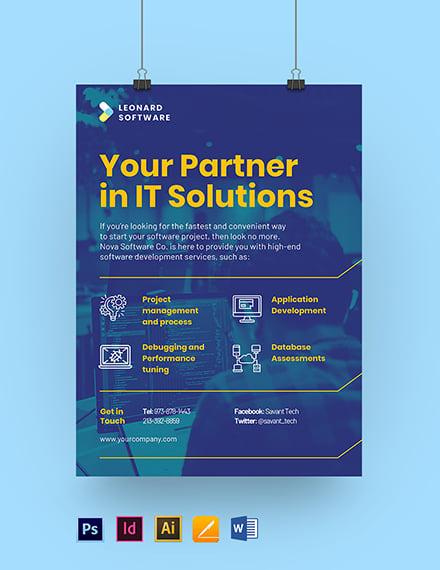 Software Development Poster Template