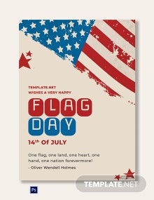 Free Flag Day Greeting Card Template
