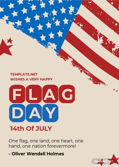 Free Flag Day Greeting Card Template.jpe