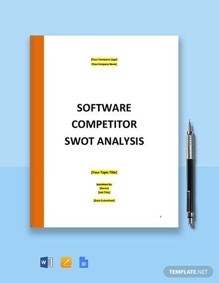 Software Competitor SWOT Analysis Template