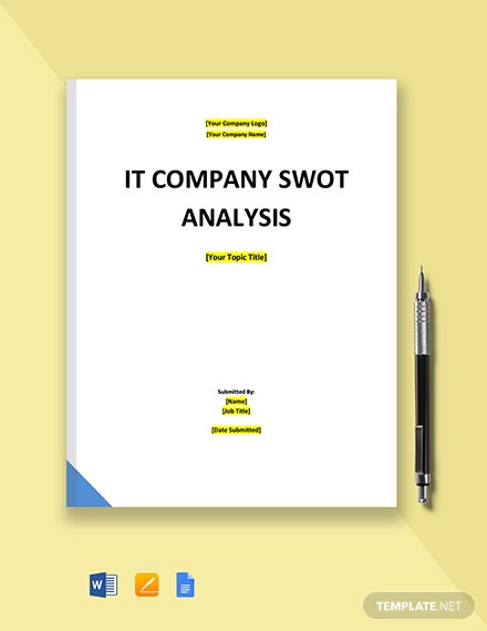 IT Company SWOT Analysis Template