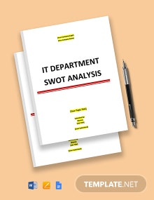 IT Department SWOT Analysis Template