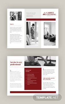 Carpet Cleaning Brochure Template