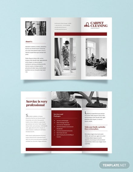 Free Carpet Cleaning Brochure Template