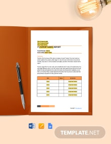 Free Blank IT Report Template