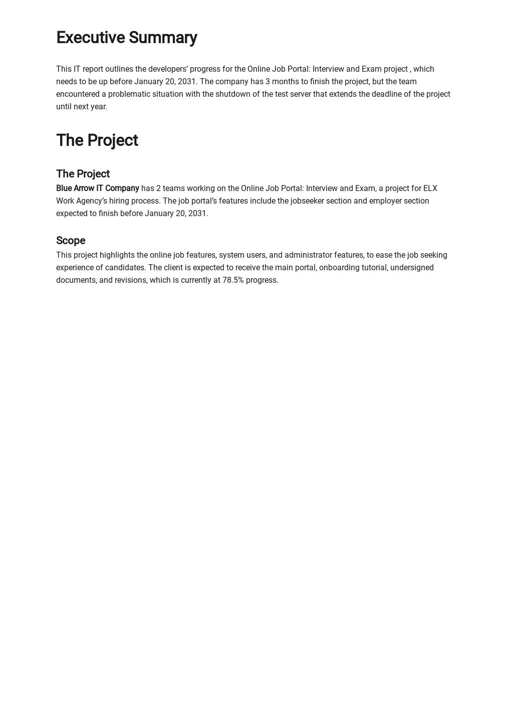 Free Blank IT Report Template 1.jpe