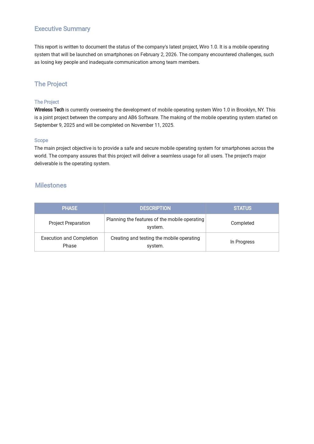 IT Status Report Template 1.jpe