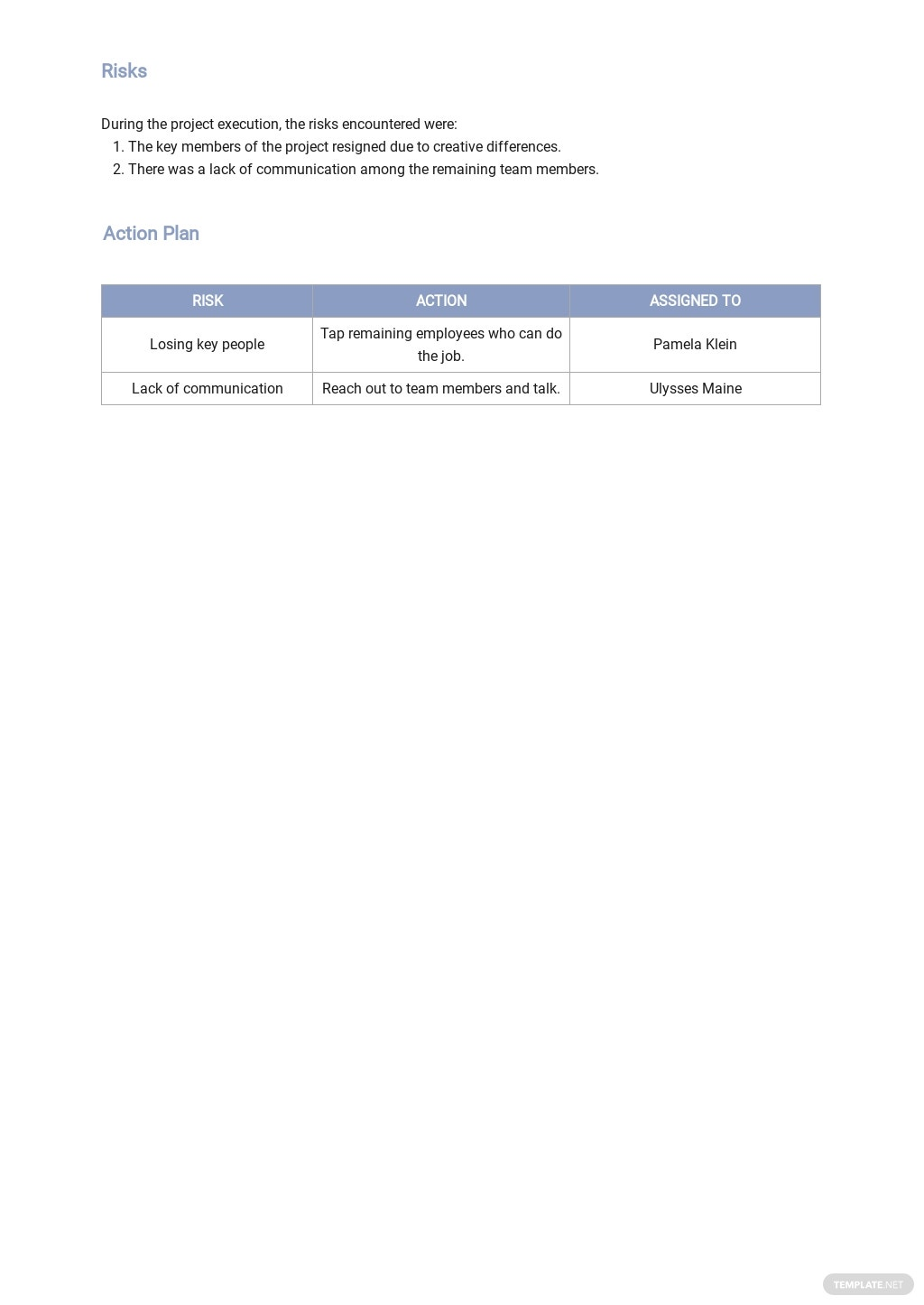 IT Status Report Template 2.jpe