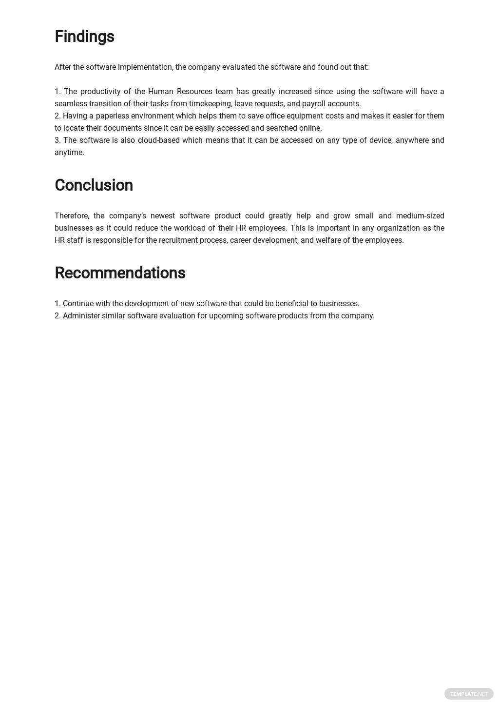 Software Evaluation Report Template 2.jpe