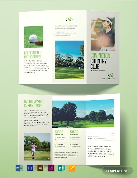 Free Golf Brochure Template