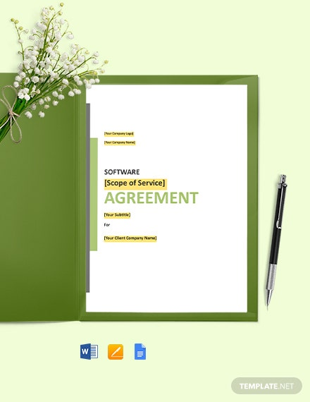Customised Software Development Agreement Template