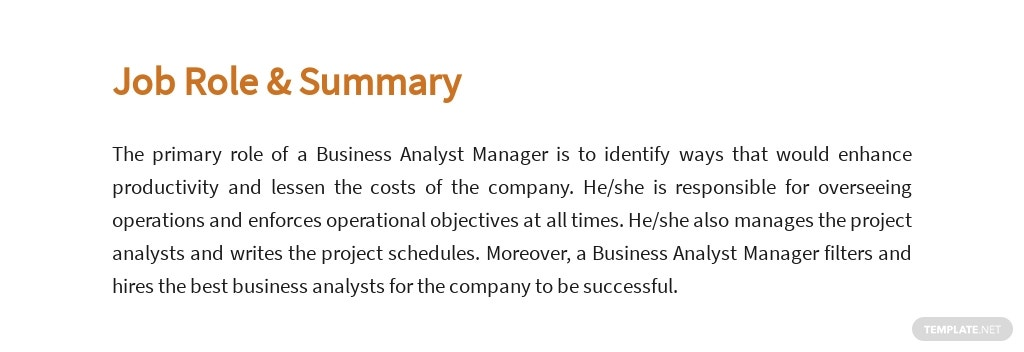 Free Business Analyst Manager Job Ads and Description Template 2.jpe