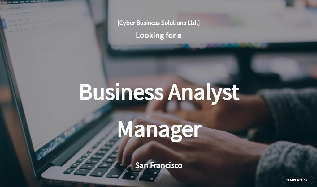 Free Business Analyst Manager Job Ads and Description Template.jpe