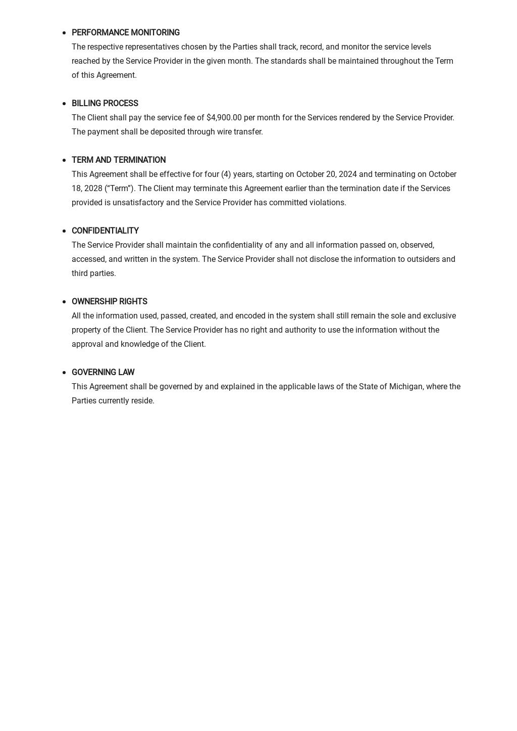 IT Service Level Agreement Template 2.jpe