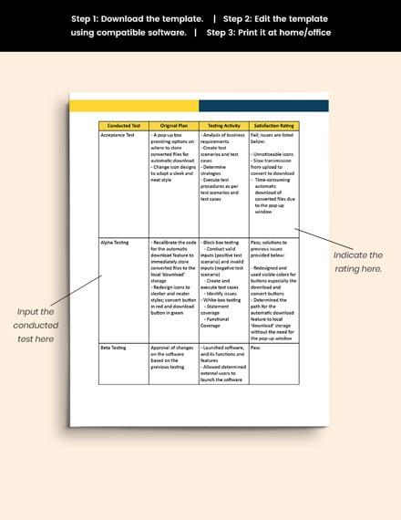 sample Software Testing Report