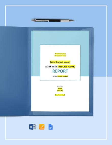 Agile Test Report Template
