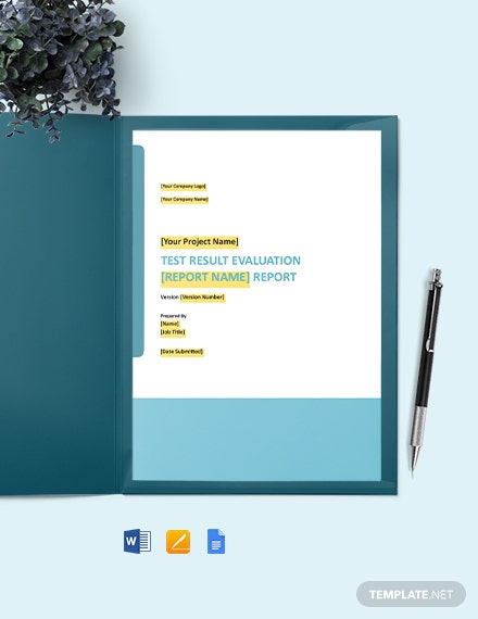 Test Result Evaluation Report Template