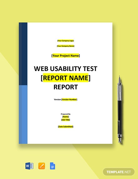 Web Usability Test Report Template
