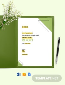 Test Tracking Report Template