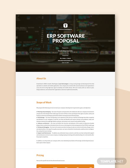 HTML5 Mobile App Proposal Template