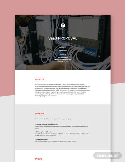 SAAS Proposal Template