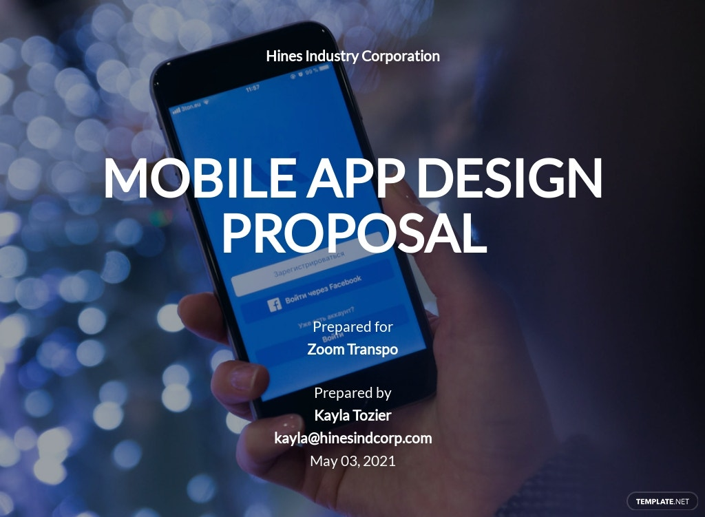 Mobile App Design Proposal Template