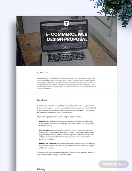 E-Commerce Web Design Proposal Template