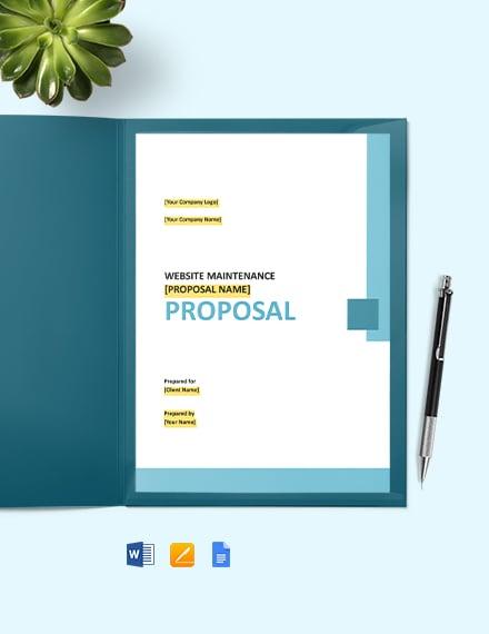 E-Commerce Web Design Proposal Template
