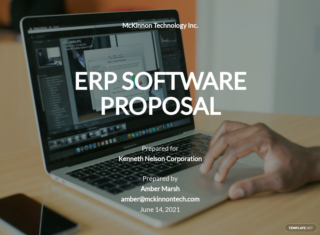 ERP Software Proposal Template