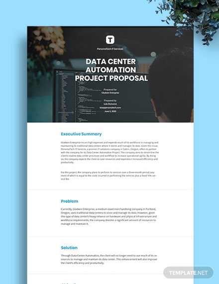Simple IT Project Proposal Template
