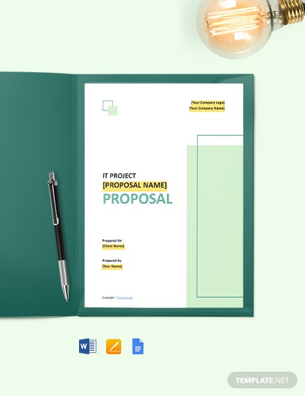 Free Simple IT Project Proposal Template