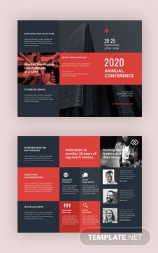 conference brochure template - free business conference a3 bifold brochure template in