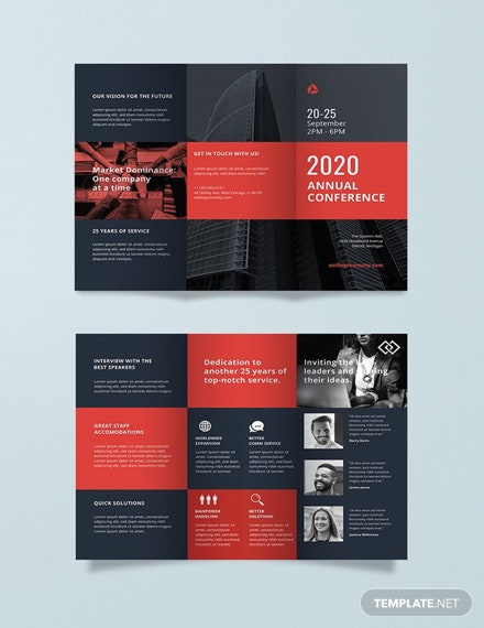 free conference business brochure template download 151 brochures