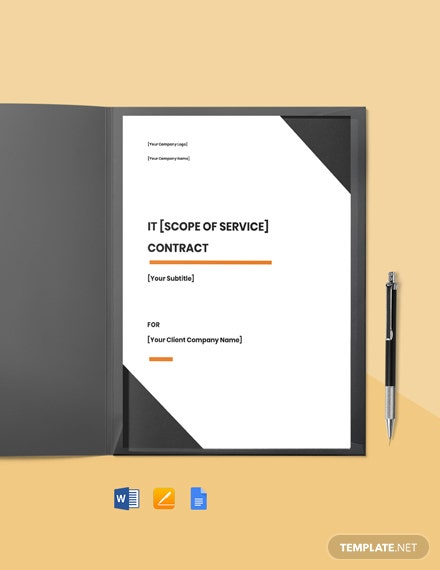 IT Support Contract Template