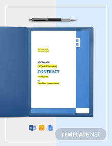 SaaS Software Contract Template
