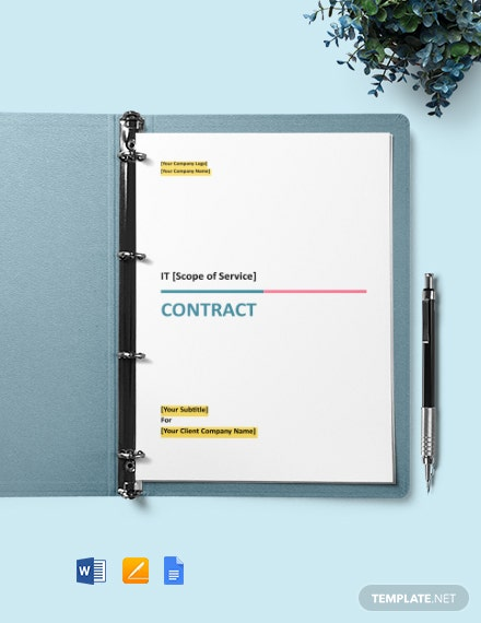 IT Project Contract Template