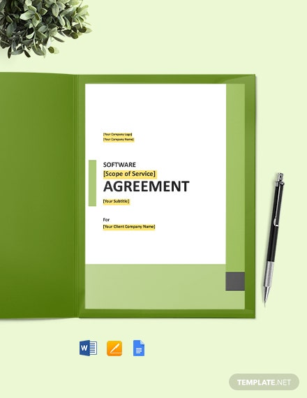 Web-Wrap Software License Agreement Template