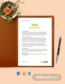 Free Software Notice Format Template