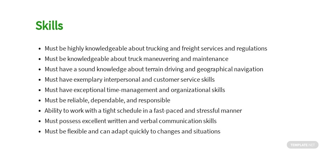 Free Casual Driver Job Ads and Description Template 4.jpe