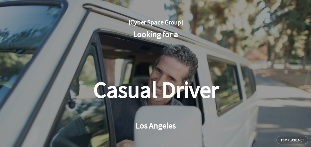 Free Casual Driver Job Ads and Description Template.jpe