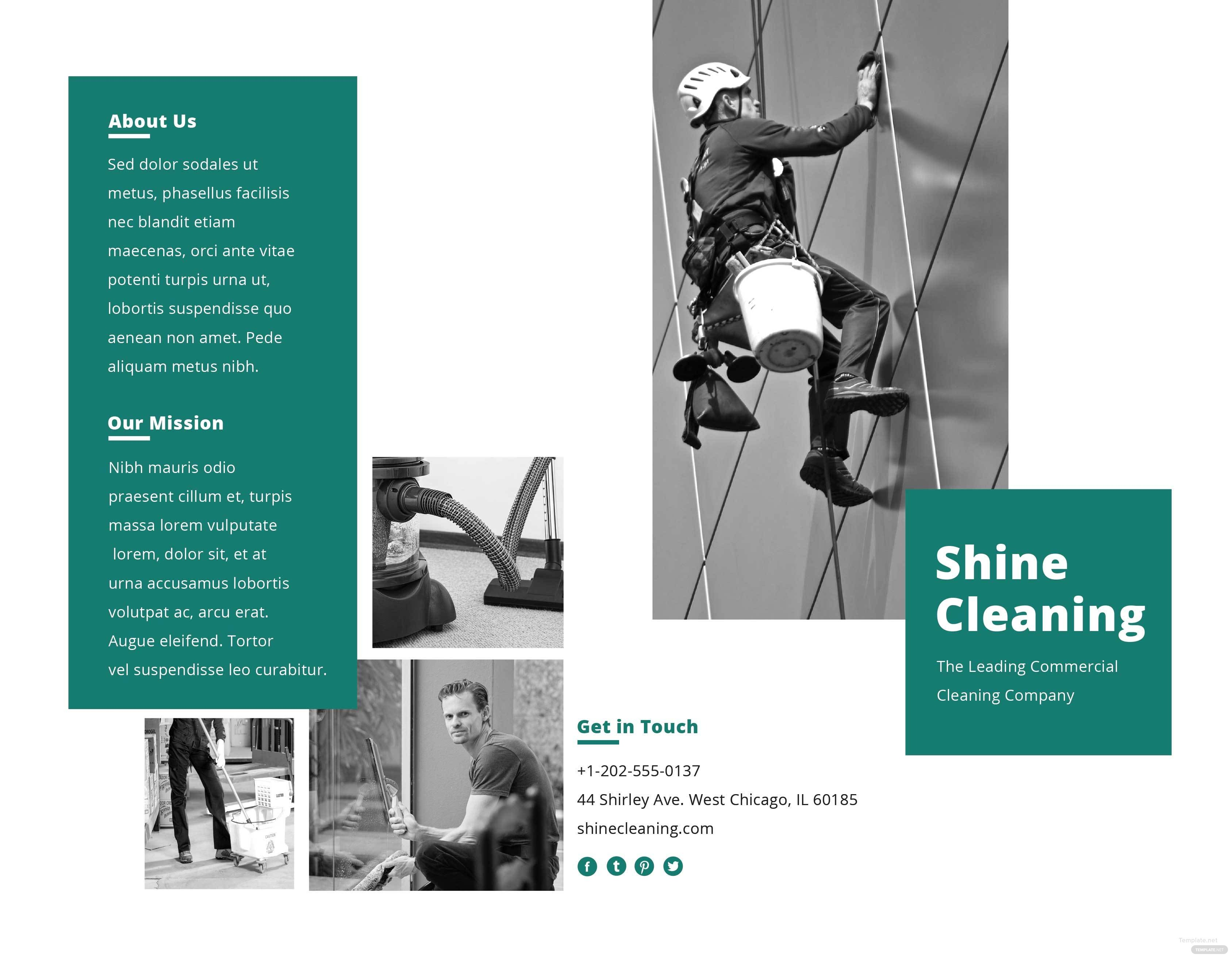 Cleaning Service Brochure Template in Adobe Photoshop, Illustrator ...