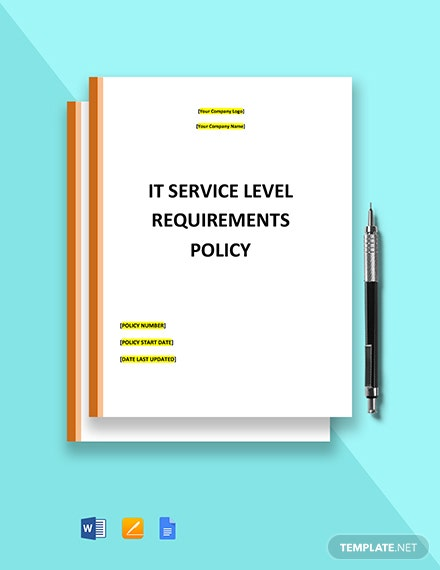 IT Service Level Requirements Template