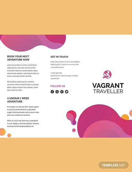 Modern Travel Brochure Template [Free Publisher] - Illustrator, InDesign, Word, Apple Pages, PSD