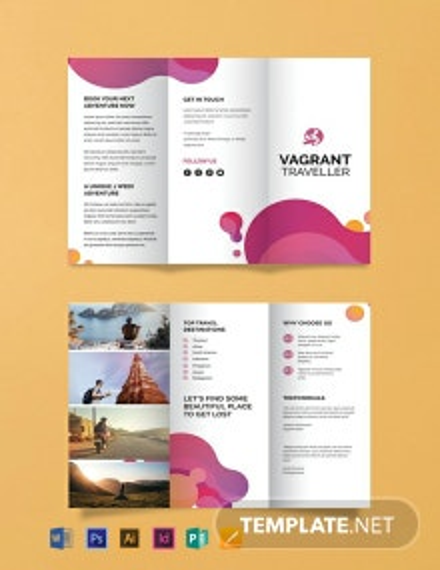 Free Modern Travel Brochure Template