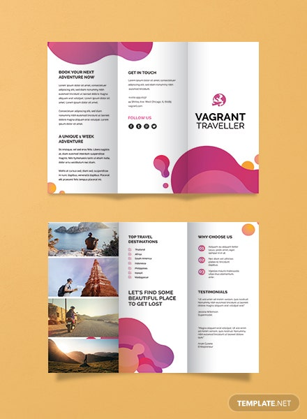 Free Modern Travel Brochure Template