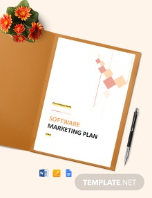 Free Simple Software Marketing Plan Template