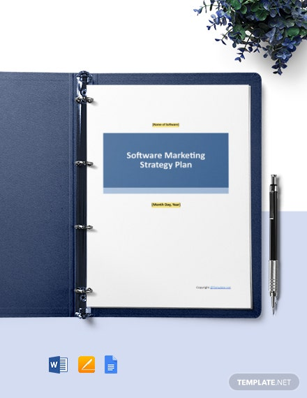Sample Software Marketing Strategy Template