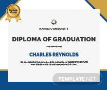 Free graduation gift certificate template in adobe illustrator free diploma of graduation certificate template yelopaper Images
