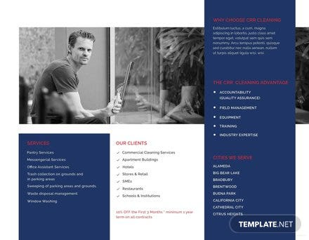 Office Cleaning Brochure Template Free Templates